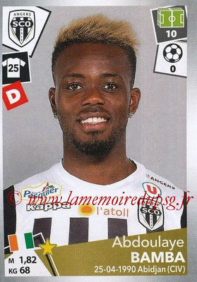 2017-18 - Panini Ligue 1 Stickers - N° 029 - Abdoulaye BAMBA (Angers)