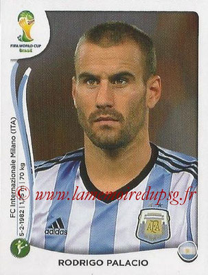 2014 - Panini FIFA World Cup Brazil Stickers - N° 427 - Rodrigo PALACIO (Argentine)
