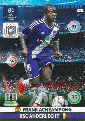 2014-15 - Adrenalyn XL champions League N° 042 - Frank ACHEAMPONG (RSC Anderlecht)