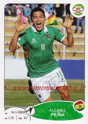 2014 - Panini Road to FIFA World Cup Brazil Stickers - N° 156 - Alcides PENA (Bolivie)