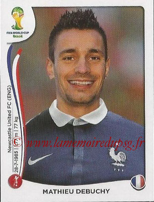 2014 - Panini FIFA World Cup Brazil Stickers - N° 378 - Mathieu DEBUCHY (France)