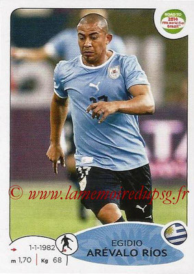 2014 - Panini Road to FIFA World Cup Brazil Stickers - N° 080 - Egidio AREVALO RIOS (Uruguay)