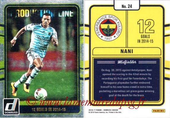 2016 - Panini Donruss Cards - N° PL24 - NANI (Fenerbahce SK) (Production Line)