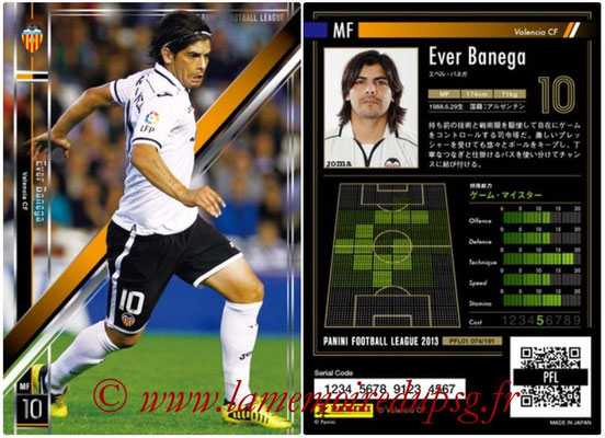 Panini Football League 2013 - PFL01 - N° 074 - Ever Banega ( Valencia CF )