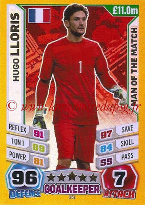 Topps Match Attax England 2014 - N° 251 - Hugo LLORIS (France) (Man Of The Match)