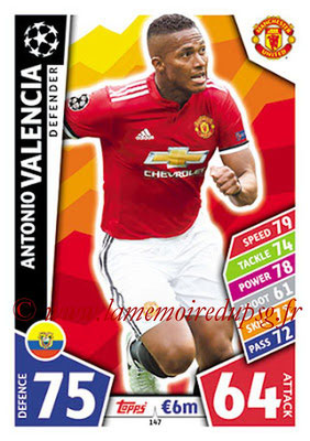 2017-18 - Topps UEFA Champions League Match Attax - N° 147 - Antonio VALENCIA (Manchester United)