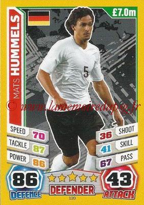 Topps Match Attax England 2014 - N° 120 - Mats HUMMELS (Allemagne)