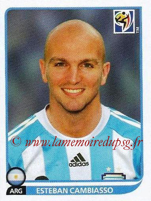 2010 - Panini FIFA World Cup South Africa Stickers - N° 114 - Esteban CAMBIASSO (Argentine)