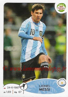2014 - Panini Road to FIFA World Cup Brazil Stickers - N° 072 - Lionel MESSI (Argentine)