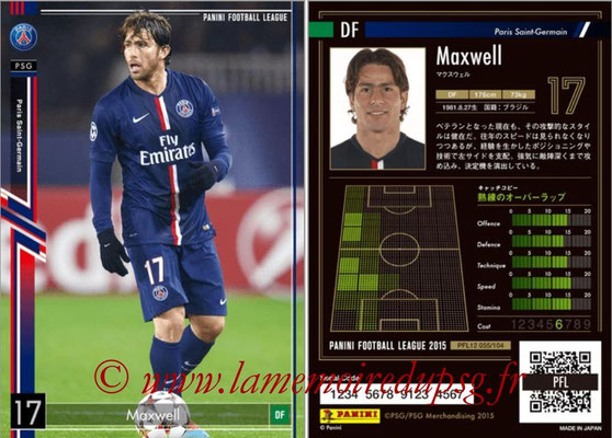 Panini Football League 2015 - PFL12 - N° 055 - MAXWELL (Paris Saint-Germain)