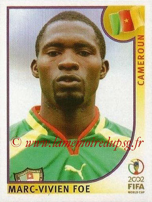 2002 - Panini FIFA World Cup Stickers - N° 378 - Marc-Vivien FOE (Cameroun)