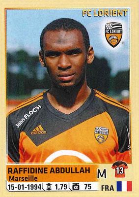 2014-15 - Panini Ligue 1 Stickers - N° 179 - Raffidine ABDULLAH (FC Lorient)