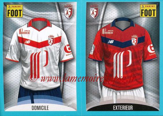 2016-17 - Panini Ligue 1 Stickers - N° 258 + 259 - Maillot Domicile + Extérieur (Lille)