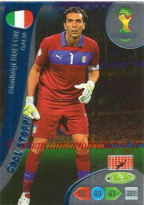 2014 - Panini FIFA World Cup Brazil Adrenalyn XL - N° 359 - Gianluigi BUFFON (Italie) (Goal Stopper)