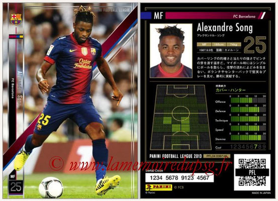 Panini Football League 2013 - PFL04 - N° 038 - Alexandre SONG (FC Barcelone)
