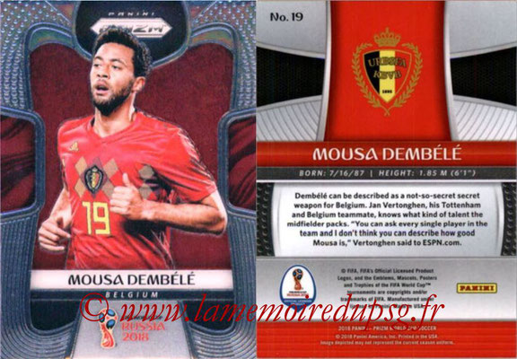 2018 - Panini Prizm FIFA World Cup Russia - N° 019 - Mousa DEMBELE (Belgique)