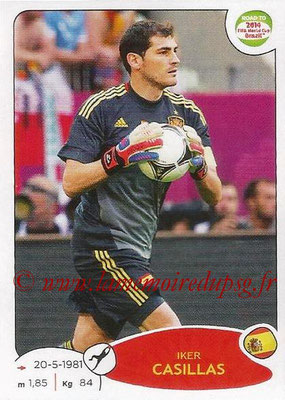 2014 - Panini Road to FIFA World Cup Brazil Stickers - N° 127 - Iker CASILLAS (Espagne)
