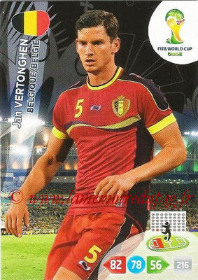 2014 - Panini FIFA World Cup Brazil Adrenalyn XL - N° 027 - Jan VERTONGHEN (Belgique)
