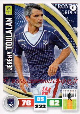 2016-17 - Panini Adrenalyn XL Ligue 1 - N° 051 - Jérémy TOULALAN (Bordeaux)