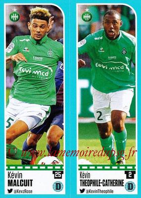 2016-17 - Panini Ligue 1 Stickers - N° 766 + 767 - Kévin MALCUIT + Kévin THEOPHILE-CATHERINE (Saint-Etienne)