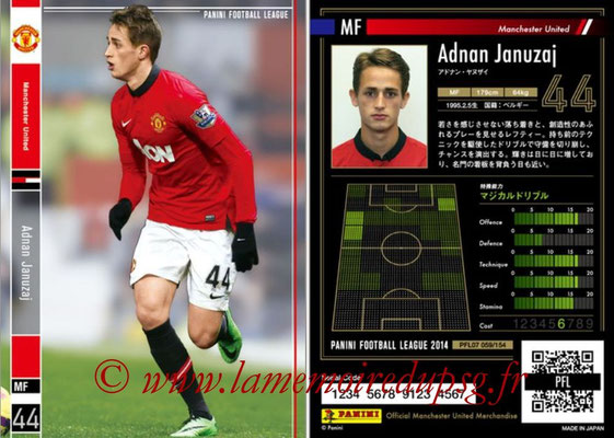 Panini Football League 2014 - PFL07 - N° 059 - Adnan JANUZAJ (Manchester United)