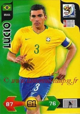 2010 - Panini FIFA World Cup South Africa Adrenalyn XL - N° 034 - LUCIO (Bresil)