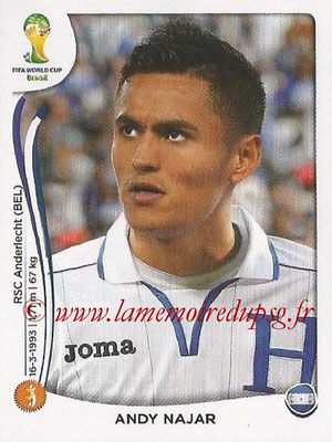 2014 - Panini FIFA World Cup Brazil Stickers - N° 407 - Andy NAJAR (Honduras)