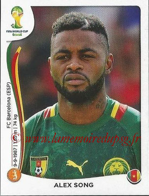 2014 - Panini FIFA World Cup Brazil Stickers - N° 099 - Alex SONG (Cameroun)