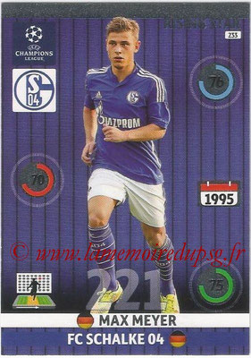 2014-15 - Adrenalyn XL champions League N° 233 - Max MEYER ( FC Schalke 04) (Rising star)
