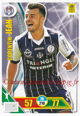 2017-18 - Panini Adrenalyn XL Ligue 1 - N° 333 - Corentin JEAN (Toulouse)
