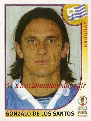 2002 - Panini FIFA World Cup Stickers - N° 071 - Gonzalo DE LOS SANTOS (Uruguay)