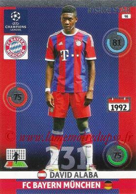 2014-15 - Adrenalyn XL champions League N° 098 - David ALABA (Bayern Munich) (Rising star)