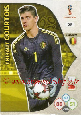 2018 - Panini FIFA World Cup Russia Adrenalyn XL - N° 028 - Thibaut COURTOIS (Belgique)