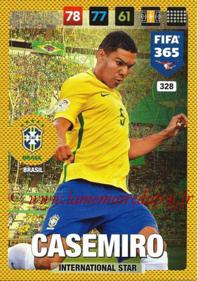 2016-17 - Panini Adrenalyn XL FIFA 365 - N° 328 - CASEMIRO (Brésil) (International Star)