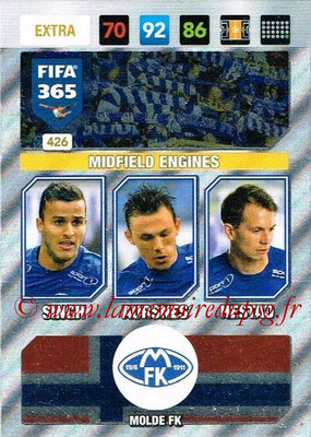2016-17 - Panini Adrenalyn XL FIFA 365 - N° 426 - SINGH + AURSNES + HESTAD (Molde FK) (Midfield Engines) (Nordic Edition)