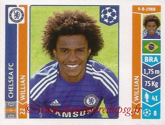 2014-15 - Panini Champions League N° 504 - WILLIAN (Chelsea FC)