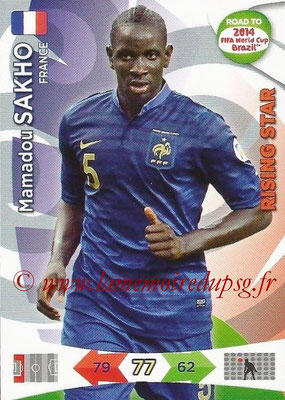 2014 - Panini Road to FIFA World Cup Brazil Adrenalyn XL - N° 092 - Mamadou SAKHO (France) (Rising Star)