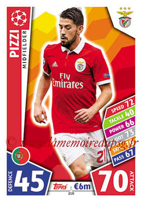 2017-18 - Topps UEFA Champions League Match Attax - N° 210 - PIZZI (SL Benfica)