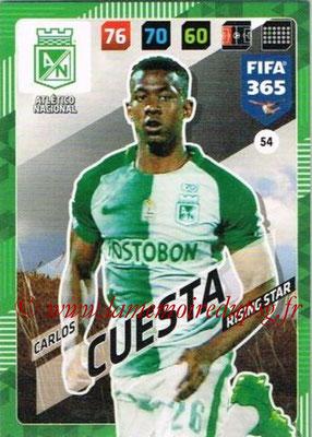 2017-18 - Panini FIFA 365 Cards - N° 054 - Carlos CUESTA (Atletico Nacional) (Rising Star)