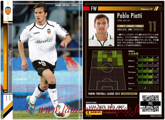 Panini Football League 2013 - PFL01 - N° 075 - Pablo Piatti ( Valencia CF )