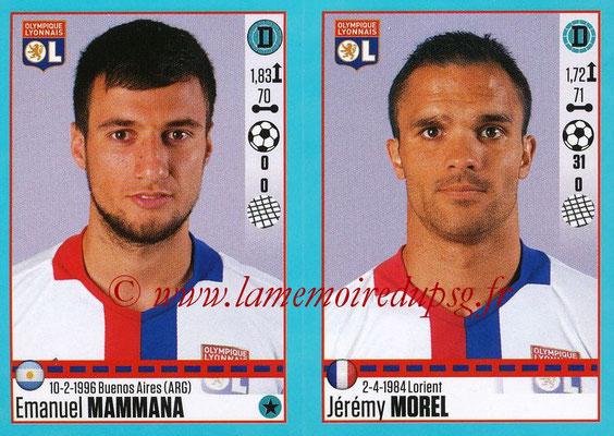2016-17 - Panini Ligue 1 Stickers - N° 360 + 361 - Emanuel MAMMANA + Jérémy MOREL (Lyon)