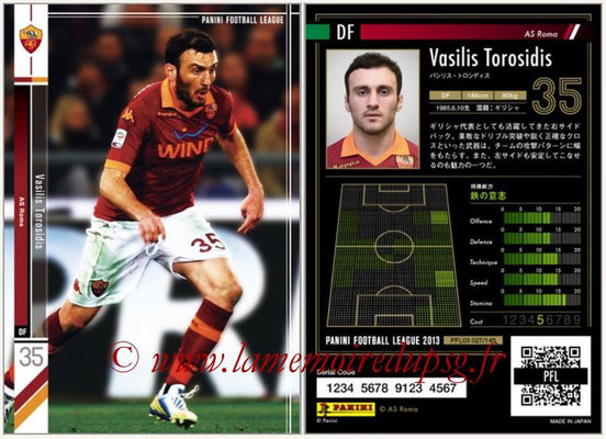 Panini Football League 2013 - PFL03 - N° 027 - Vasilis Torosidis (AS Roma)