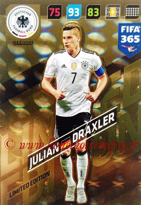 2017-18 - Panini FIFA 365 Cards - N° LE-JD - Julian DRAXLER (Allemagne) (Limited Edition)