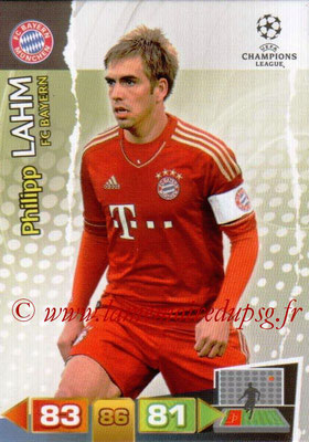 2011-12 - Panini Champions League Cards - N° 057 - Philipp LAHM (FC Bayern Munich)