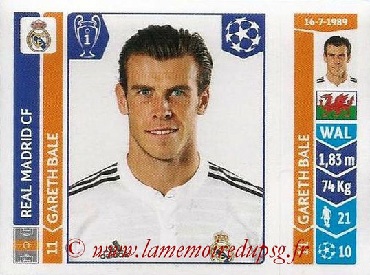 2014-15 - Panini Champions League N° 117 - Gareth BALE (Real Madrid FC)