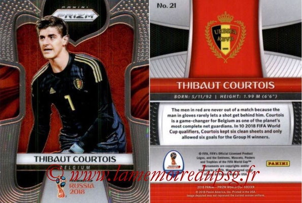 2018 - Panini Prizm FIFA World Cup Russia - N° 021 - Thibaut COURTOIS (Belgique)