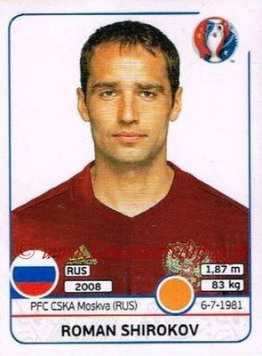 Panini Euro 2016 Stickers - N° 174 - Roman SHIROKOV (Russie)