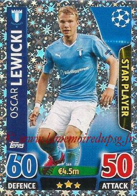 2015-16 - Topps UEFA Champions League Match Attax - N° 369 - Oscar LEWICKI (Malmö FF) (Star Player)