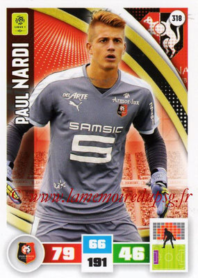 2016-17 - Panini Adrenalyn XL Ligue 1 - N° 318 - Paul NARDI (Rennes)
