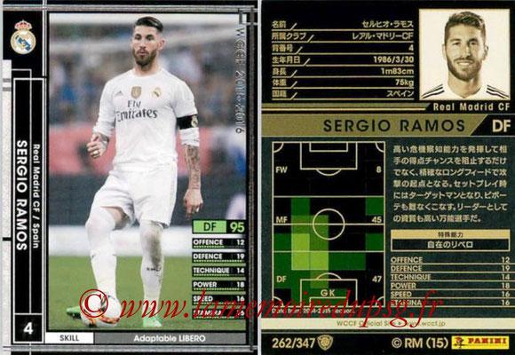 2015-16 - Panini WCCF - N° 262 - Sergio RAMOS (Real Madrid CF)